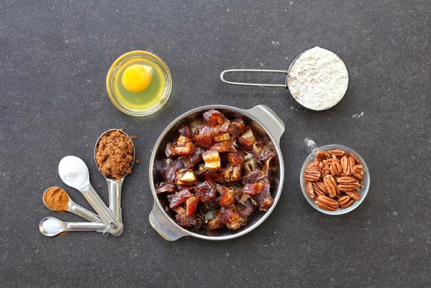 רכיבים לעוגת תמרים